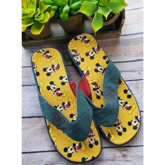 e11475ff1bf31 Disney Shoes - 🎉NWOT Disney Mickey Mouse Denim Flip Flop Sandals